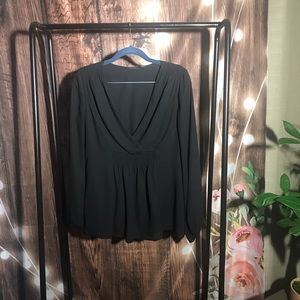 Halogen long sleeve blouse top